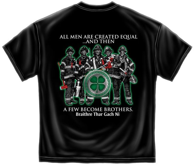 irish firefighter t shirt