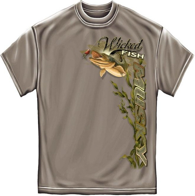Musky t shirt for Wildlife t shirts wholesale