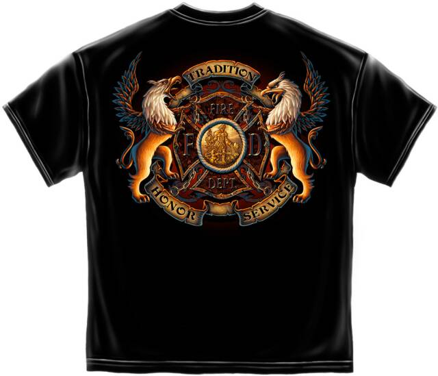 Fire fighter apparel for On fire brand t shirts